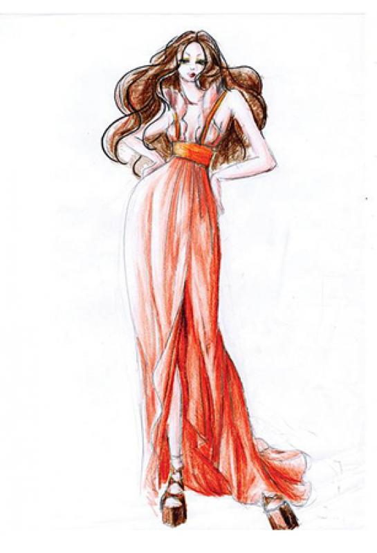 歐美風格長洋裝