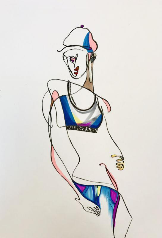 流線型半身服裝設計_1