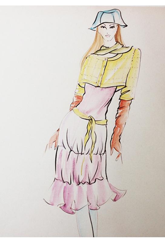 歐美優雅長洋裝