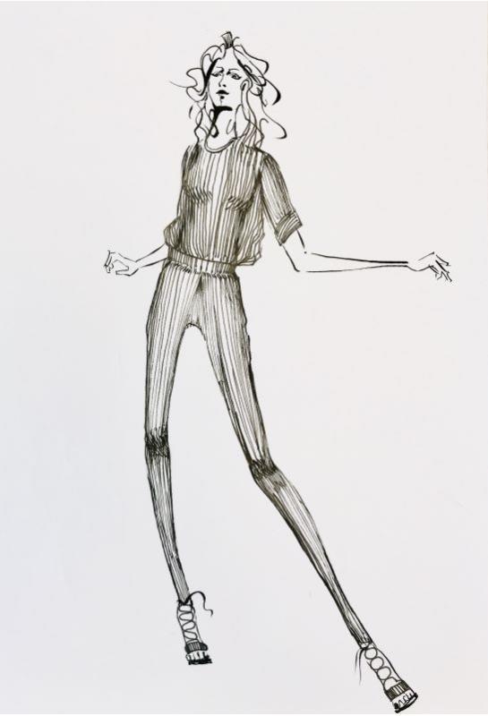 流線型黑白服裝設計描繪_6
