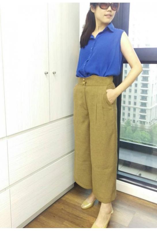 學員設計作品_復古造型寬褲