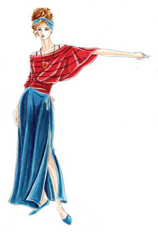 波浪上衣與長裙