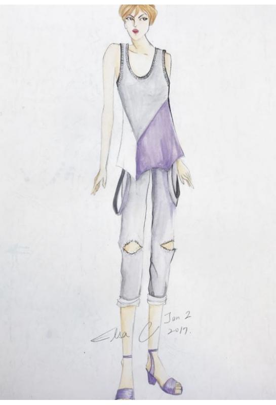 學員服裝設計畫創作作品_3