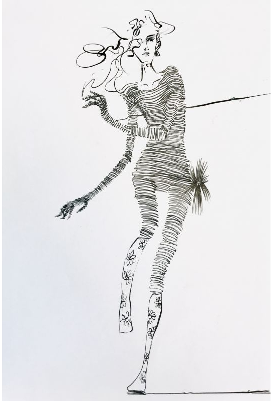 流線型黑白服裝設計描繪_7