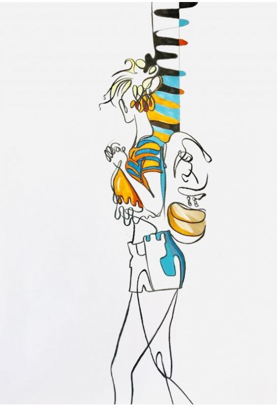 流線型服裝結合背景雜誌設計_1