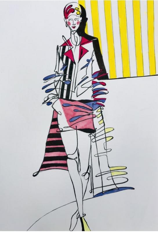 流線型服裝結合背景雜誌設計_2