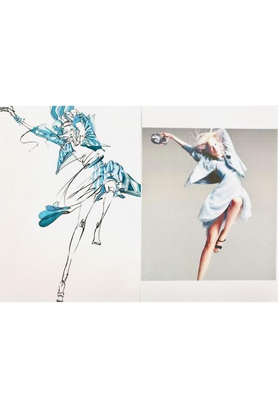 流線型服裝造型結合背景封面設計 _4