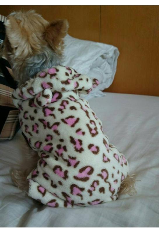 粉紅豹紋連帽_